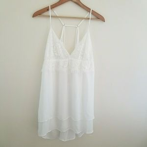 NWT Flora by Flora Nikrooz White Lace Chemise XL